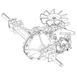 Boite de vitesse tracteur tondeuse Husqvarna 314-0510 166768