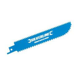 3 lames double face de scie-sabre pour bois Silverline